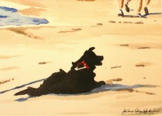 """Black Dog"" original fine art by JoAnne Perez Robinson"