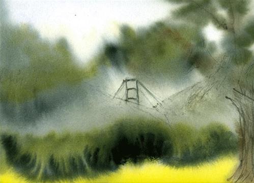 """Golden Gate From Richmond"" original fine art by Donna Crosby"