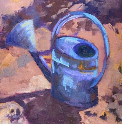 """Watering Can"" original fine art by Pam Holnback"