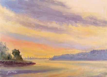 """Hudson River Atmosphere"" original fine art by Jamie Williams Grossman"