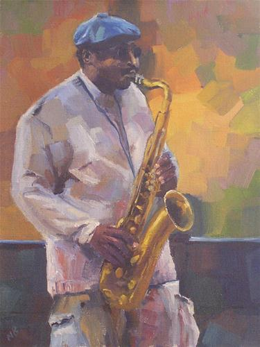"""Street Jazz"" original fine art by Nina Brodsky"