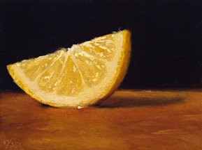 """Lemon Slice No. 2"" original fine art by Abbey Ryan"