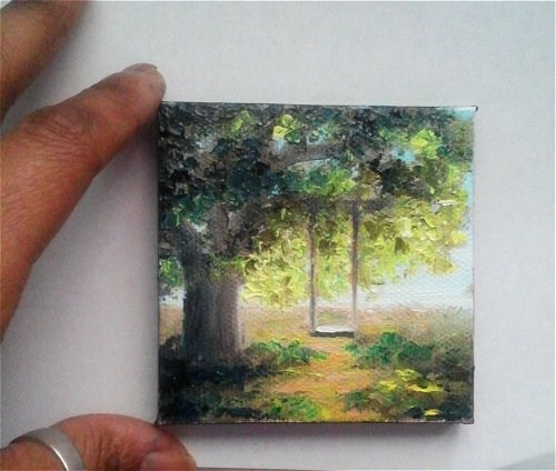"""Swing in the Tree"" original fine art by Camille Morgan"