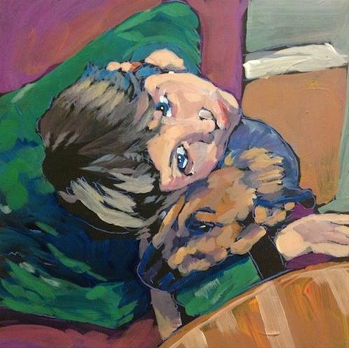 """Gus Squees"" original fine art by Kat Corrigan"