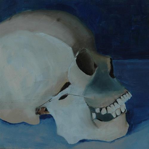 """""""SKULL No. 2"""" original fine art by Linda Popple"""