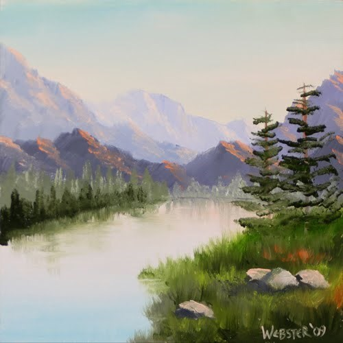 """Mark Webster - Mountain River Overture Landscape Oil Painting"" original fine art by Mark Webster"
