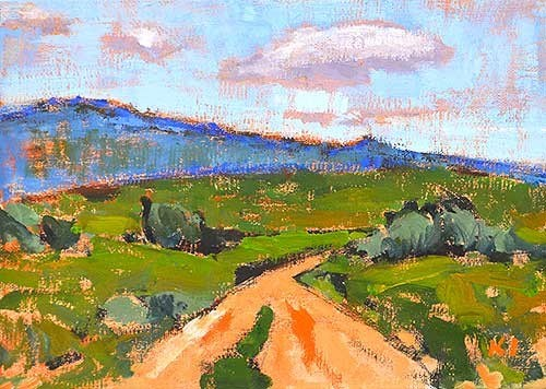 """Mountains, Boise"" original fine art by Kevin Inman"