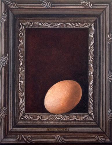 """""""Egg in a Frame"""" original fine art by Patti Adams"""