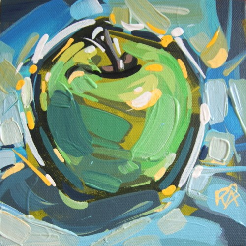 """Apple Abstraction 25"" original fine art by Roger Akesson"