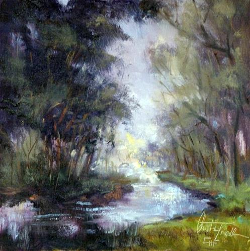 """""""The  Little Creek"""" original fine art by Christa Friedl"""