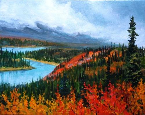 """Crimson and Gold, the North Canol"" original fine art by Jackie Irvine"
