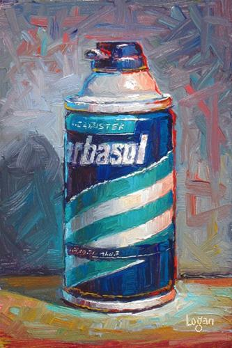 """Can O' Barbasol"" original fine art by Raymond Logan"