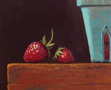 """Fresh-picked Strawberries"" original fine art by Abbey Ryan"