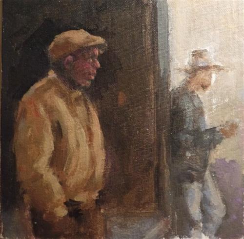 """""""Passersby"""" original fine art by Suzanne Carson"""