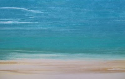 """Contemporary Beach Art, Abstract Seascape Painting, Coastal Art Days of Summer VI by International"" original fine art by Kimberly Conrad"