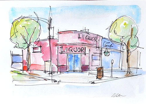 """Mission Hills Watercolor, San Diego"" original fine art by Kevin Inman"