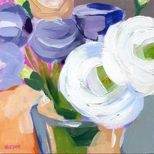 """Secondary Posy"" original fine art by Heather Bennett"