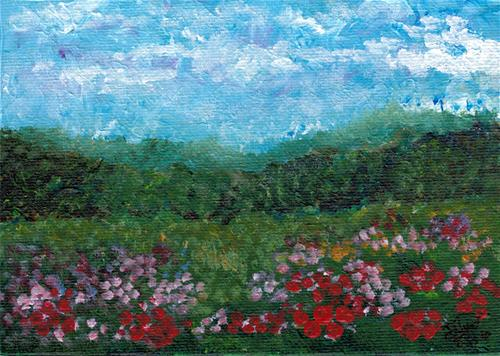 """Field of Flowers"" original fine art by Donna Vieth"