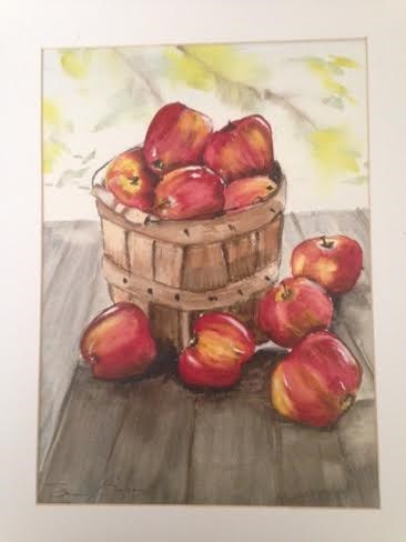 """Basket of Apples"" original fine art by Susan Brens"