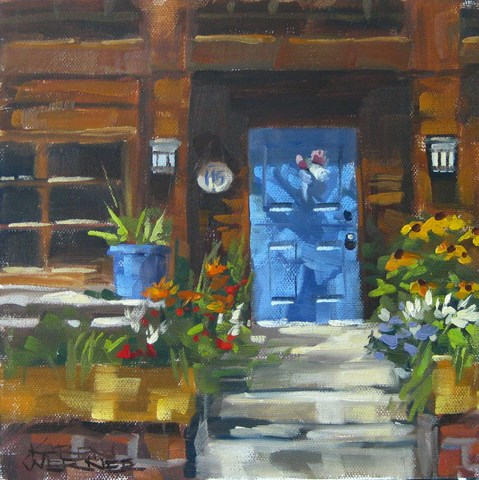 """Blue Door Balboa"" original fine art by Karen Werner"