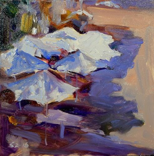"""Farmer's Market"" original fine art by Sabrina Zhou"