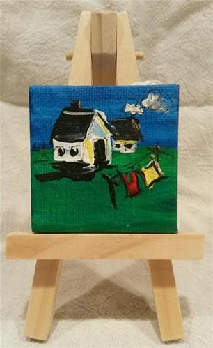 """Itty Bitty Farmlette"" original fine art by Terri Einer"