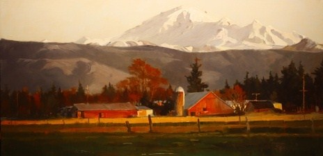 """Mt. Baker Farm  oil landscape painting by Robin Weiss"" original fine art by Robin Weiss"