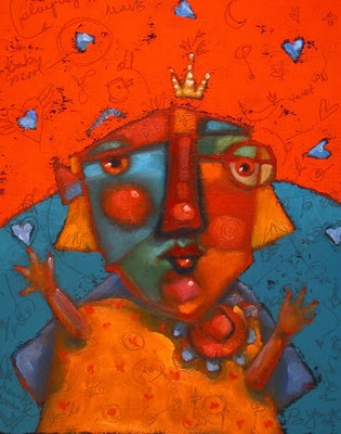 """Juggler Of Hearts"" original fine art by Brenda York"