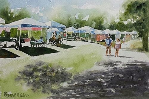 """Highbridge Homecoming Festival"" original fine art by Peggy Bishop"