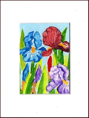 """Colorful Iris"" original fine art by Patricia Ann Rizzo"