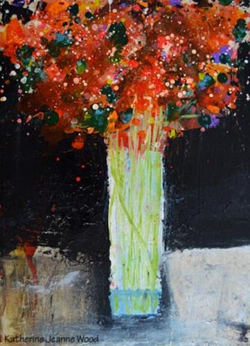 """Flower painting No 83"" original fine art by Katie Jeanne Wood"