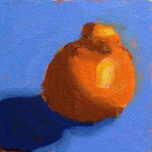 """Tangerine Demo"" original fine art by Bobbi Heath"