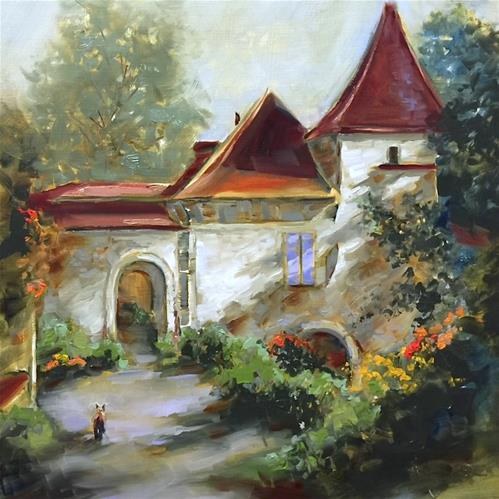 """French Escape Chateau - Countdown to France - Nancy Medina Art Classes and Workshops"" original fine art by Nancy Medina"