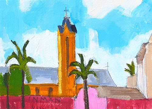 """Uptown Laundromat View, San Diego"" original fine art by Kevin Inman"