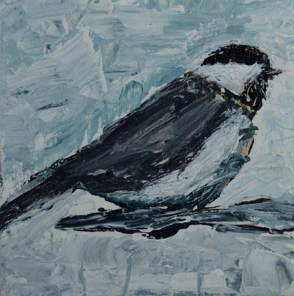 """""""Bird Series No 9"""" original fine art by Katie Jeanne Wood"""