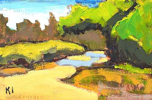 """Wetlands, San Diego"" original fine art by Kevin Inman"