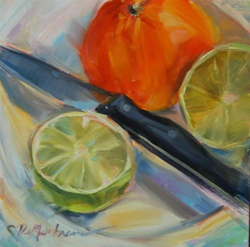 """Citrus Splash"" original fine art by Carol DeMumbrum"