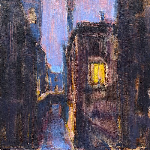 """Nightfall in Venice"" original fine art by Kevin Inman"