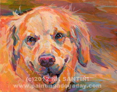 """Teddy"" original fine art by Kimberly Santini"