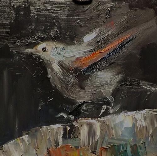 """BIRD,N17"" original fine art by Run-      Zhang Zane"