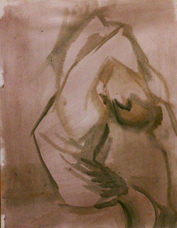 """Figure 5...yoga"" original fine art by Richard Huston"