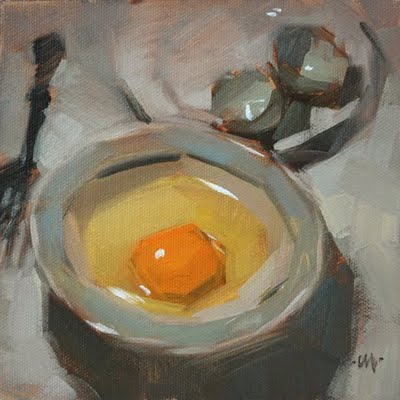 """Raw Breakfast 2"" original fine art by Carol Marine"