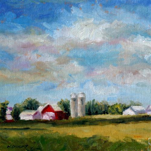 """Ohio Farm"" original fine art by Kristen Dukat"
