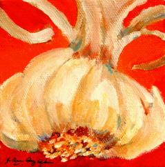 """Gilroy's Flower"" original fine art by JoAnne Perez Robinson"