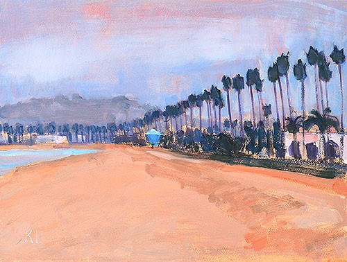 """May Gray, Santa Barbara"" original fine art by Kevin Inman"