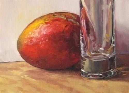 """21 - Mango and Bud Vase"" original fine art by Ed Watson"