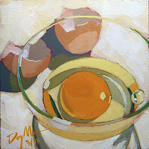 """""""Egg for One"""" original fine art by Mike Daymon"""