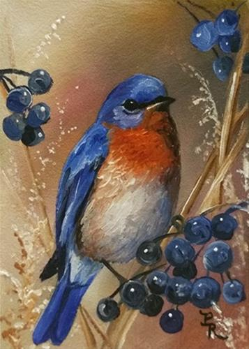 """Berry Blue"" original fine art by Paulie Rollins"