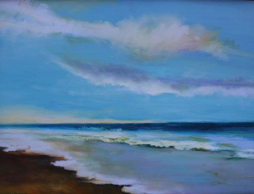"""Day's End, Seascape Paintings by Arizona Artist Amy Whitehouse"" original fine art by Amy Whitehouse"