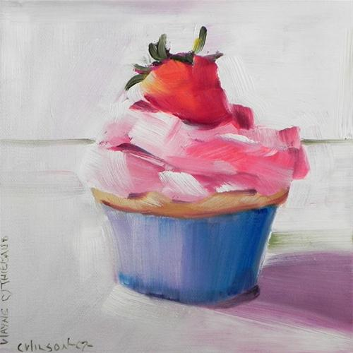 """Cupcake for Wayne"" original fine art by Cheryl Wilson"